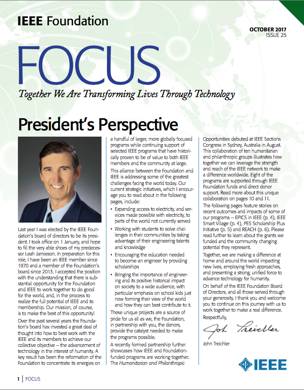 Focus, Newsletter, Treichler, Foundation Focus